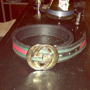 A Gucci belt
